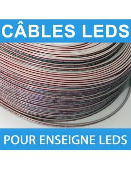 Câble pour enseigne leds 0.85 mm² par ml