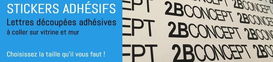 Lettres adhésives à personnaliser | Stickers pour vitrine de magasin