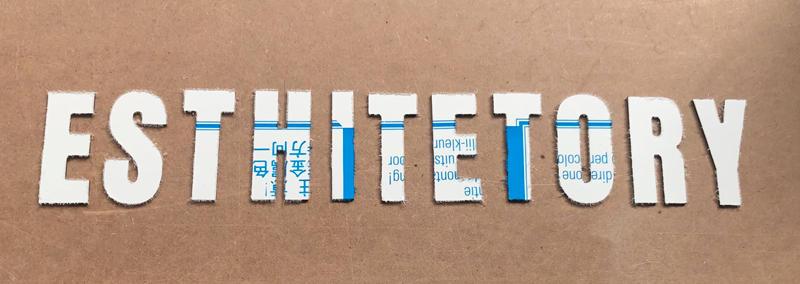 Découpe de lettres en Alu composite pour une enseigne ou signalétique