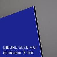Matière Dibond Bleu Mat de 3 mm