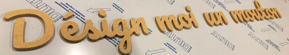 Découpe de lettres en bois pour enseigne de magasin