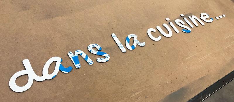 lettres découpées en alu pour signalétique