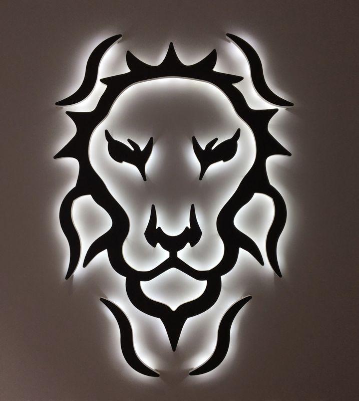 Logo en rétro éclairage leds pour agence immobilière sur Lille