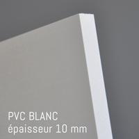 Matière PVC Blanc de 10 mm