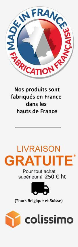 Livraison gratuite en France pour tout achat de plus de 200 euro ttc